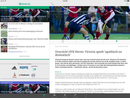 hockey.nl Standenmotor iPad Screenshot 1