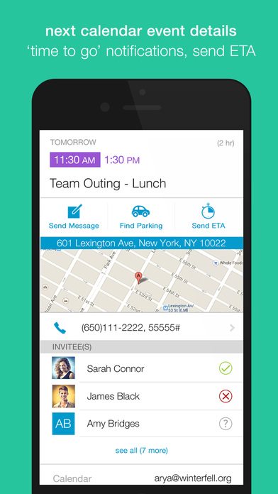 EasilyDo Assistant for Contacts, Calendar, Email, Travel and Receipts app image