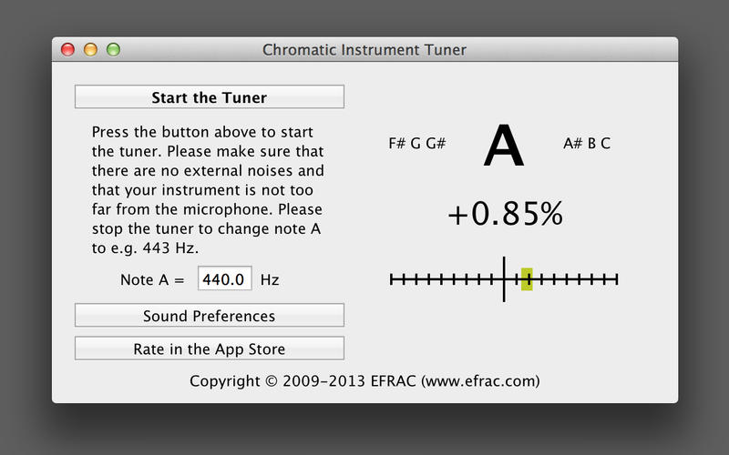Chromatic Instrument Tuner (Guitar, Violin, Piano) Screenshot