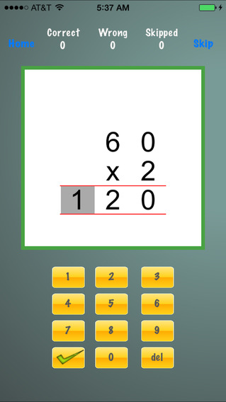 Drill Long Multiplications iPhone Screenshot 5