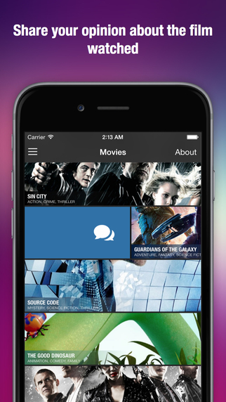Personal movie list with Looksharp. Keep your favorite films and share reviews to social networks.