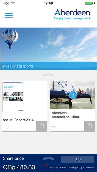 Aberdeen Asset Management PLC IR App