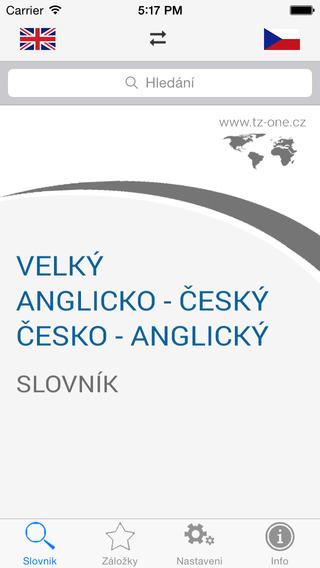 TZ-one Velký anglicko-český česko-anglický slovník