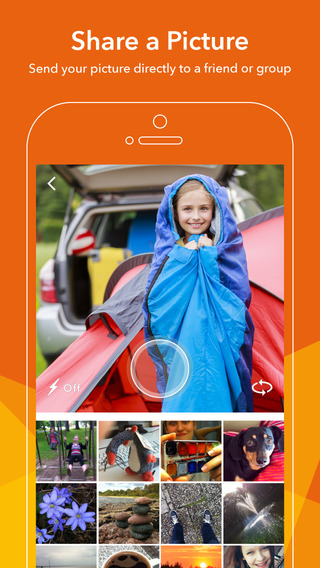 Blixi - Share pictures and see friends react with animated selfies