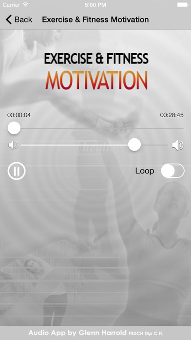 Exercise & Fitness Hypnosis Motivation by Glenn Harrold iPhone Screenshot 3