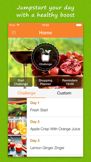 Juice Recipes for fitness and health - low calorie vitamin drinks for iOS 8