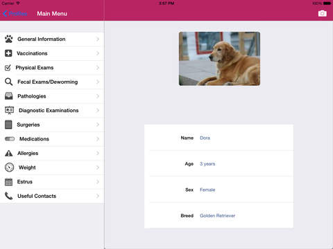 Dog Medical Agenda for iPad iPad Screenshot 2