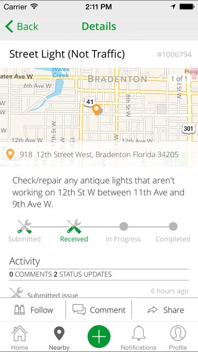 Bradenton PublicStuff iPhone Screenshot 1