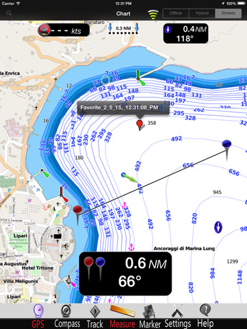 Eolie Islands GPS Nautical charts pro