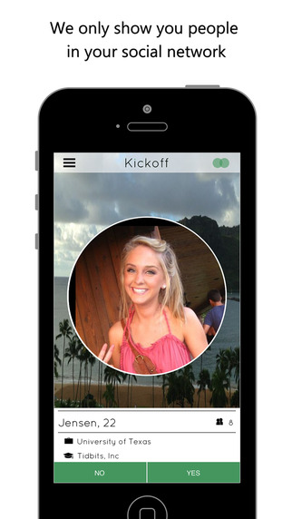 Kickoff – Meet people your friends know