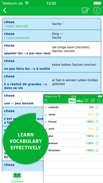 PONS Advanced French <-> German Dictionary iPhone Screenshot 5