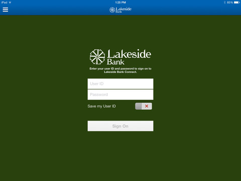Lakeside Bank Connect for iPad