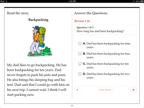 Worksheets Comprehension For 1st Grade first grade reading comprehension by aaron levy on ibooks screenshot 3