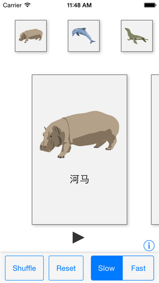 Animal Cards Chinese