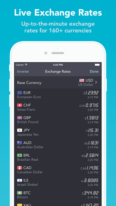 iCurrency Pad ~ The Currency Exchange Rates Converter iPhone Screenshot 3