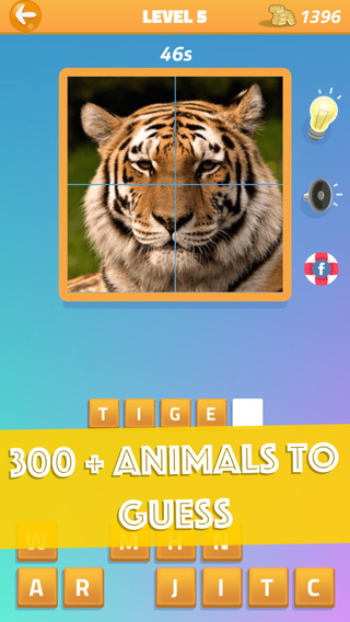 Guess the Animal Quiz - Free Funny Word Puzzle Trivia Pics Science Spirit Zoo Game for Kids