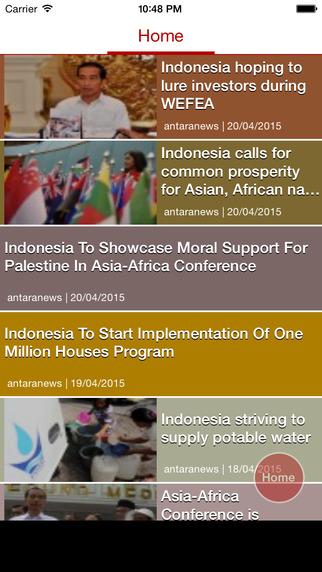 Indonesia News for Antaranews Edition