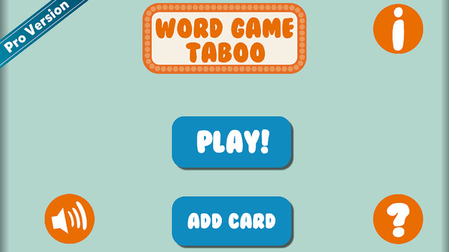 Word Game - Charades Taboo Like Edition Free