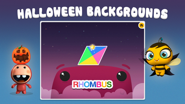 Monster Shapes Sorting Puzzle for Kids Halloween Theme FREE