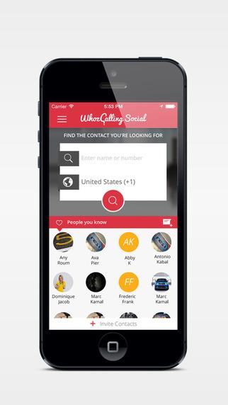Whozcalling: Social Caller ID