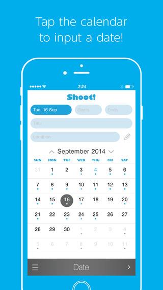 Shoot - a speedy event inserter