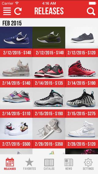 Sneaker Crush Pro - Release Dates for Air Jordan Nike Sneakers
