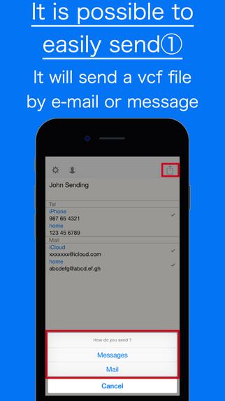 Send Contact Info -Sending-
