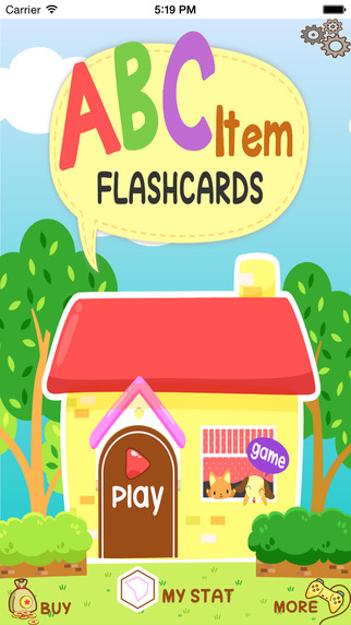 Learn English for Kids via Flashcards - Item Version