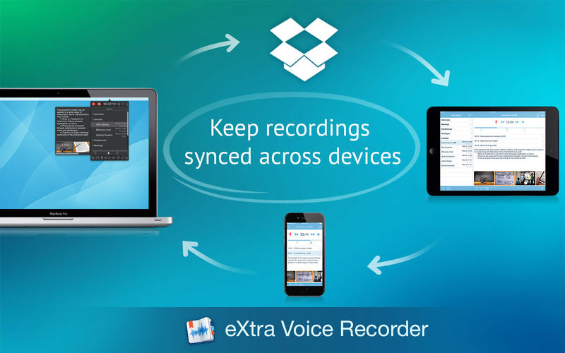 eXtra Voice Recorder: record, edit, take notes, and sync with Dropbox 앱스토어 스크린샷