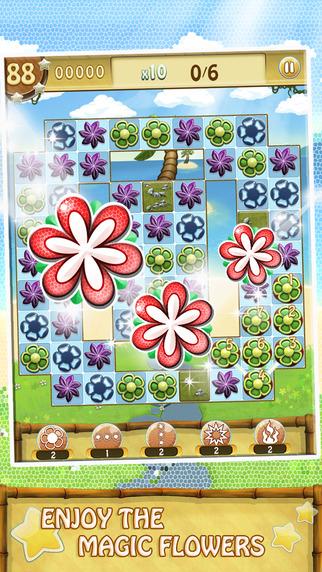 Kango Islands - Flower Swipe Match 3 Puzzle