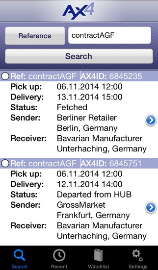 AX4 Tracking iPhone Screenshot 1