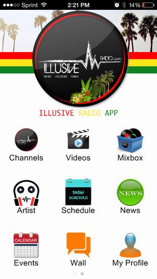 Illusive radio app