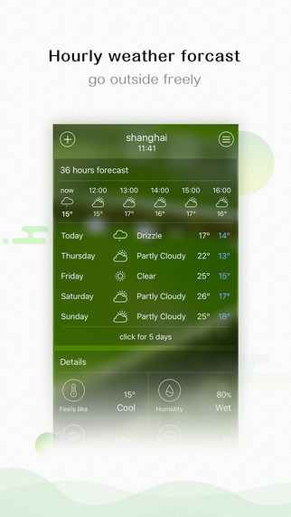 Weather forecast - 10 days, 36 hours forecast, air quality, PM2.5 Screenshots