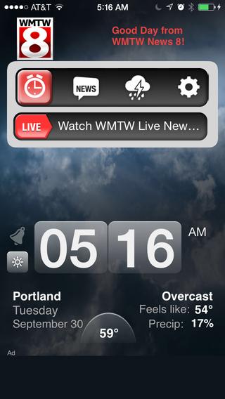 Alarm Clock WMTW 8 Portland