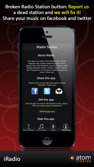 iRadio: Techno iPhone Screenshot 4