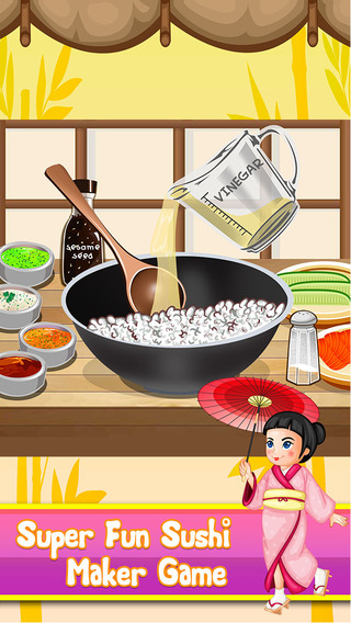 Sushi Food Maker - Fun Lunch Cooking Food Making Games for Kids Boys Girls