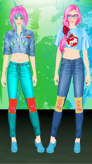 Punk Style Girl Dress Up and Make Up Game
