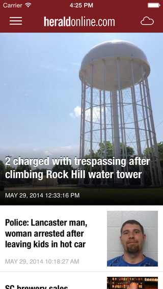 Rock Hill Herald Newspaper app for iPhone – Local News Weather Sports Traffic for the York County So