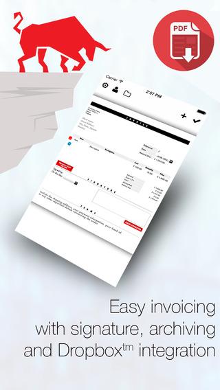 Invoice Maker Platinum: mobile PDF Invoicing