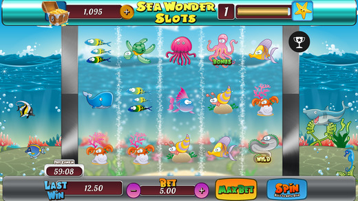 Sea Wonder Slots Vegas Casino - Win Experience Wild Cherries and Best Bonus Jackpots