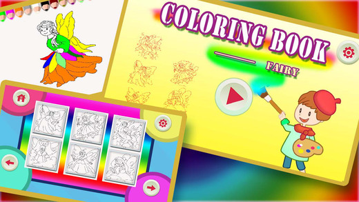 ABC Colouring Book 20 - Painting the Fairies to make them Colourful
