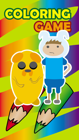 Coloring Game for Finn and Jake Adventure Time