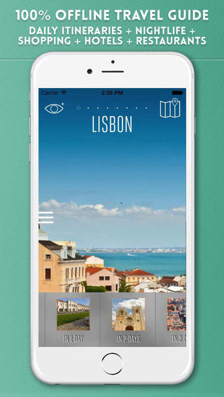 Lisbon Travel Guide with Offline City Street and Metro Map