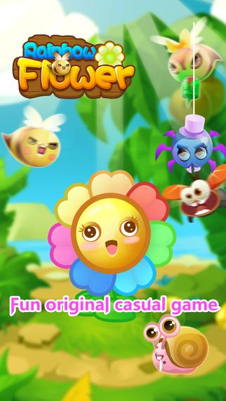 Rainbow Flower - Original casual game