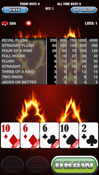 A Ablazing Video Poker