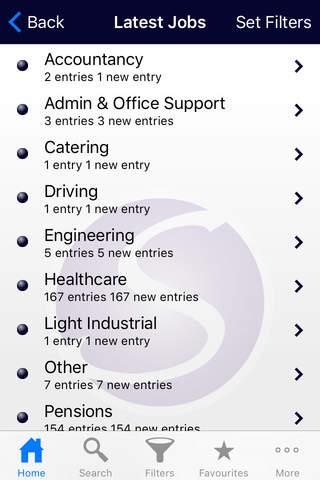 Screenshot of My Sammons: Personalised Job Search
