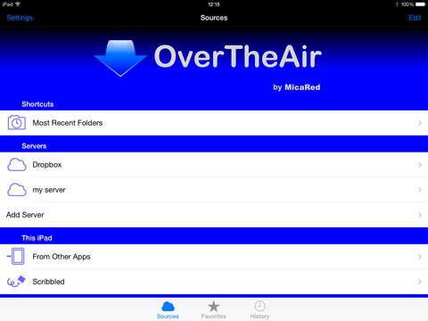 OverTheAir iPad Screenshot 1