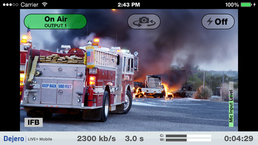 Dejero LIVE+ Mobile App