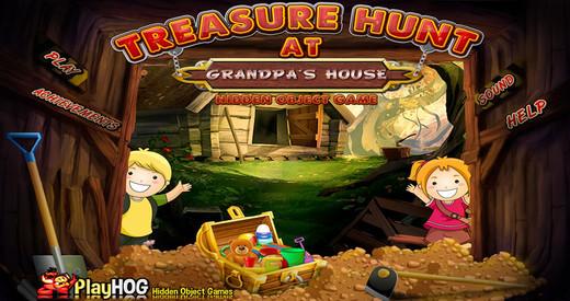 Treasure Hunt at Grandpas House - Free Hidden Object Game