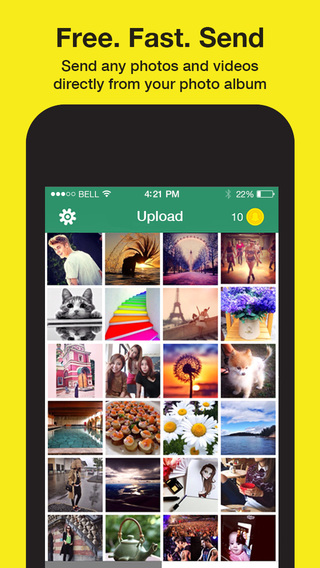 Snap Up For Snapchat - Send photos videos from your camera roll